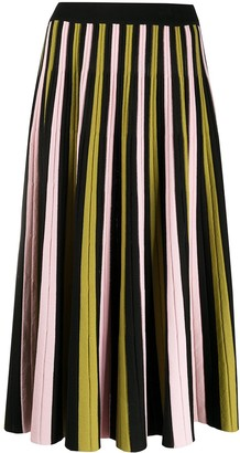 La DoubleJ Colour Block Pleated Skirt