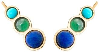 Chloé Climber Gemstone Earrings