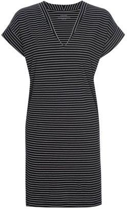 Frame Le V Stripe Mini T-Shirt Dress