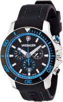 Wenger Sea Force Chrono Men's Quartz Watch with Dial Analogue Display and Silicone Strap 010643103