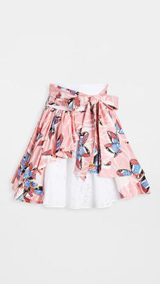 Stella Jean Mixed Eyelet Cotton Skirt