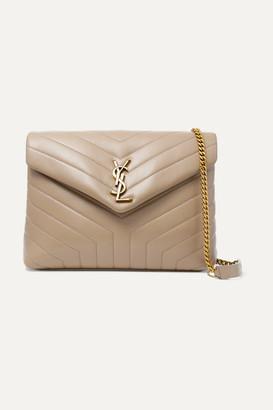 Saint Laurent Loulou Medium Quilted Leather Shoulder Bag - Beige