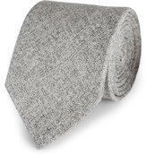 Reiss Creston - Melange Silk Tie in Grey, Mens