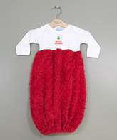 Princess Linens White & Red 'My First Christmas' Gown - Infant