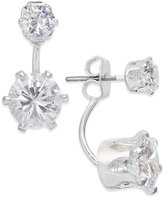 INC International Concepts Silver-Tone Crystal Front and Back Earrings, Only at Macy's