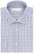 MICHAEL Michael Kors Men's Classic-Fit Non-Iron Cotton Navy Check Dress Shirt