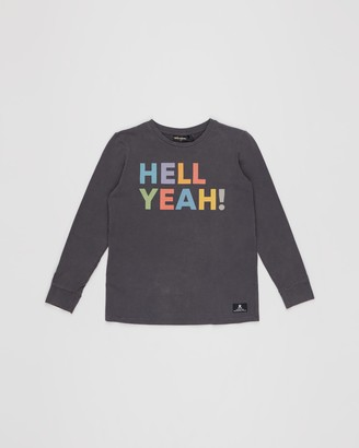 Rock Your Kid Hell Yeah! Long Sleeve T-Shirt - Kids