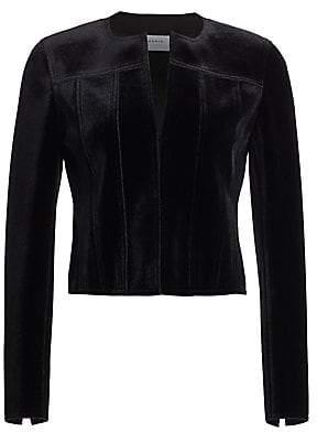 Akris Punto Women's Scuba Velvet Jacket