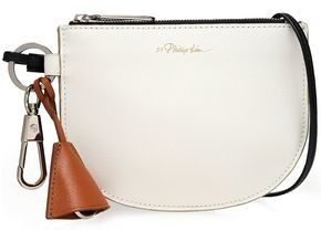 3.1 Phillip Lim Hudson Two-tone Textured-leather Clutch