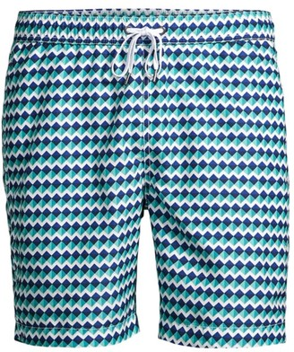 Onia Charles Geometric Swim Shorts