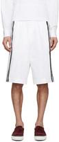 DSQUARED2 White Racing Stripe Shorts