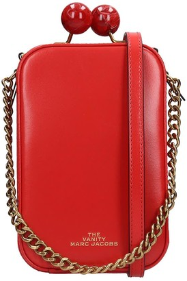 Marc Jacobs The Vanity Shoulder Bag In Red Leather