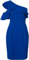 Black Halo one-shoulder frill dress