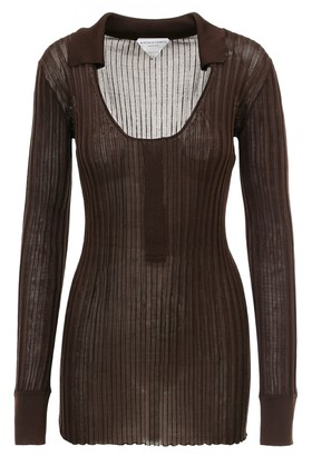 Bottega Veneta Long Sleeve Knit T-Shirt