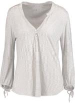 Eberjey Love Letters striped modal-blend jersey pajama top