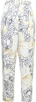 Roksanda floral high waisted trousers - women - Silk/Cotton/Viscose - 8