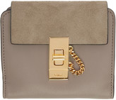 Chloé Grey Square Drew Wallet