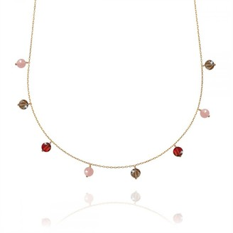 Perle de Lune Garnet & Quartz Pop Galaxy Necklace