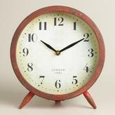 Cost Plus World Market Large Red Charlie Clock