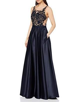 Vera Mont VM Women's 8024/4522 Party Dress, (Dark Blue/Nature 8826), 8 (Size: 34)