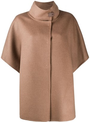 Fabiana Filippi Stand-Up Collar Cape