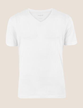 Marks and Spencer Premium Cotton V-Neck T-Shirt Vest