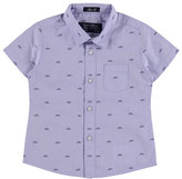 Mayoral Short-Sleeve Oxford Bicycle Shirt, Blue, Size 12-36 Months