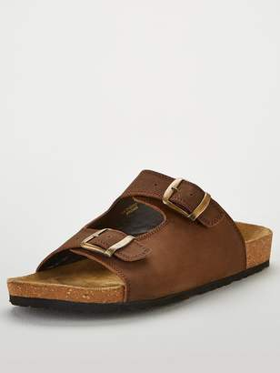 Very Brown Leather Sandal