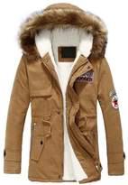 Fashion Showcase Men's Autumn Winter Long Trench Thick Jacket Coat Down (L, )