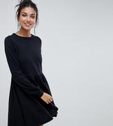 Asos Tall DESIGN Tall long sleeve cotton smock dress