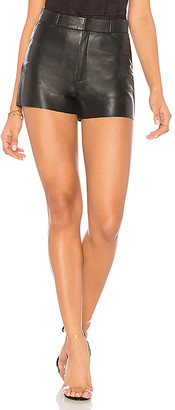 LAMARQUE Garnet Leather Shorts