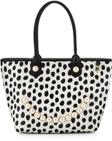 Betsey Johnson Smiley Pearl Polka-Dot Tote Bag, Dot