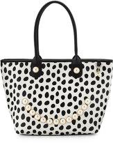 Betsey Johnson Smiley Pearl Polka-Dot Tote Bag, Dot