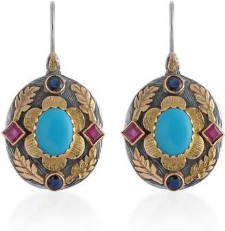 Emma Chapman Jewels Ishana Turquoise Ruby Sapphire Earrings