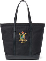 Polo Ralph Lauren Crest Canvas-Leather Tote