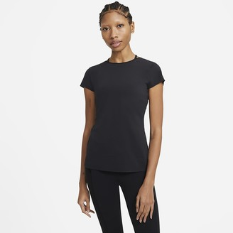 Nike Women's Short Sleeve Top Yoga Luxe