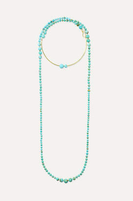 Ippolita Nova 18-karat Gold Turquoise Necklace