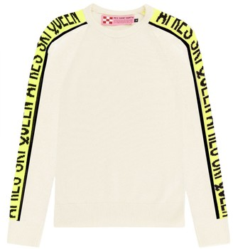 MC2 Saint Barth Queen Ski Blended Cashmere White Womans Sweater