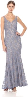 Betsy & Adam Women's Long Sweetheart Neckline Dress