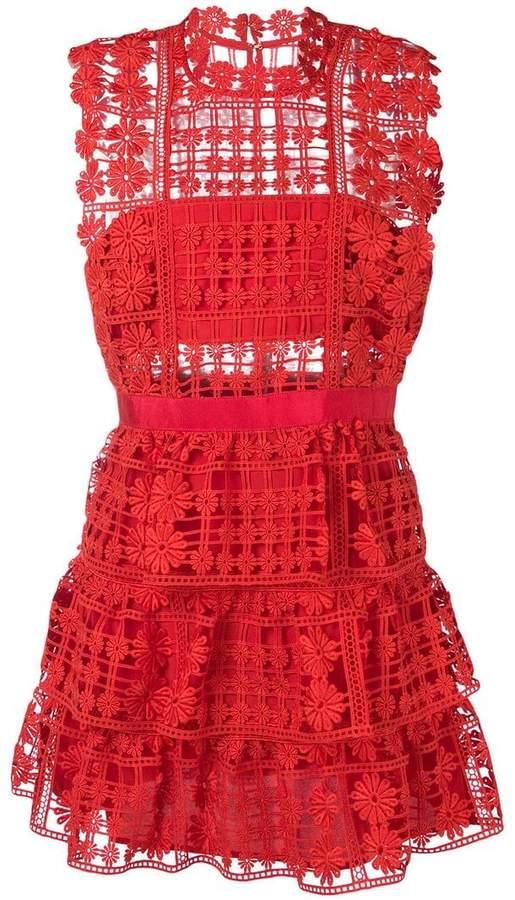 296611b6c082 Self-Portrait Red Mini Dresses - ShopStyle