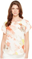 Calvin Klein Printed Top with Hardware Women's Blouse
