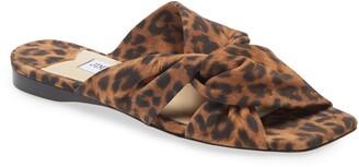 Jimmy Choo Narisa Leopard Print Twist Slide Sandal