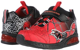 Favorite Characters Spidermantm Lighted Athletic SPS387 (Toddler/Little Kid) (Red) Boy's Shoes