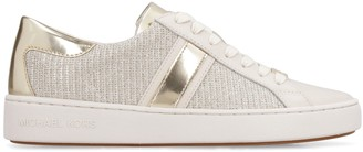 MICHAEL Michael Kors Keaton Stripe Embellished Slip-on Sneakers