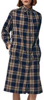 Toast Check Shirt Dress, Indigo/Ecru