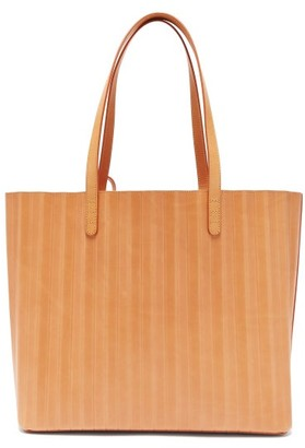 Mansur Gavriel Pleated Leather Tote Bag - Womens - Tan Multi