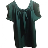 Saint Laurent Green Silk Top