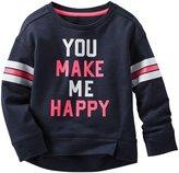 Osh Kosh Graphic Sweatshirt (Toddler/Kid) - Make Me Happy-5