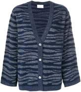 Allude tonal zebra pattern cardigan