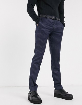 Twisted Tailor suit pants in navy pinstripe